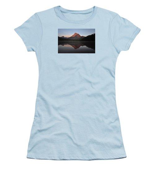 Mount Wilbur, Glacier National Park Women's T-Shirt (Athletic Fit)