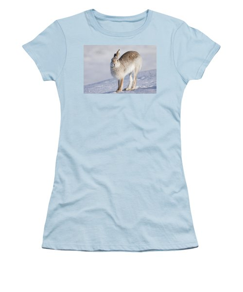 Mountain Hare In The Snow - Lepus Timidus  #2 Women's T-Shirt (Athletic Fit)
