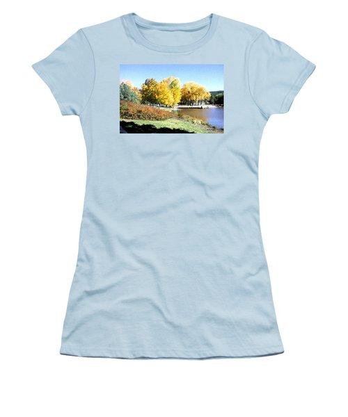 Mountain Lake Autumn Women's T-Shirt (Athletic Fit)