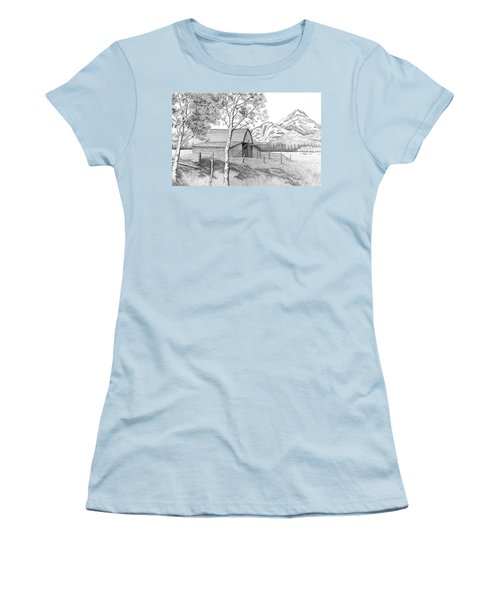 Mountain Pastoral Women's T-Shirt (Junior Cut) by Lawrence Tripoli