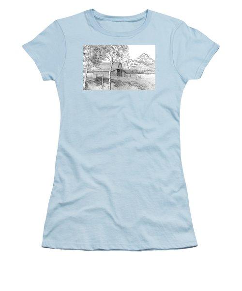 Mountain Pastoral Women's T-Shirt (Athletic Fit)
