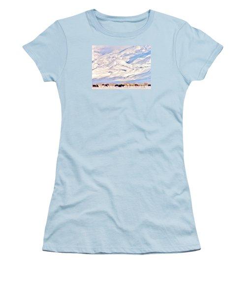 Mountain Snow Women's T-Shirt (Junior Cut) by Marilyn Diaz