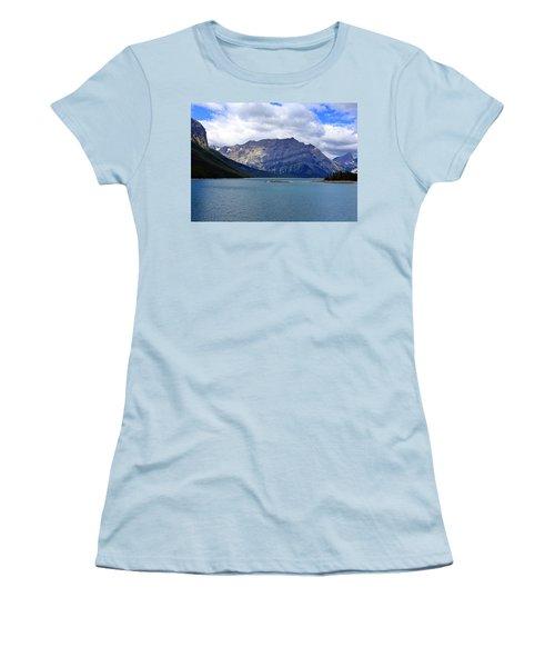 Upper Kananaskis Lake Women's T-Shirt (Junior Cut) by Heather Vopni