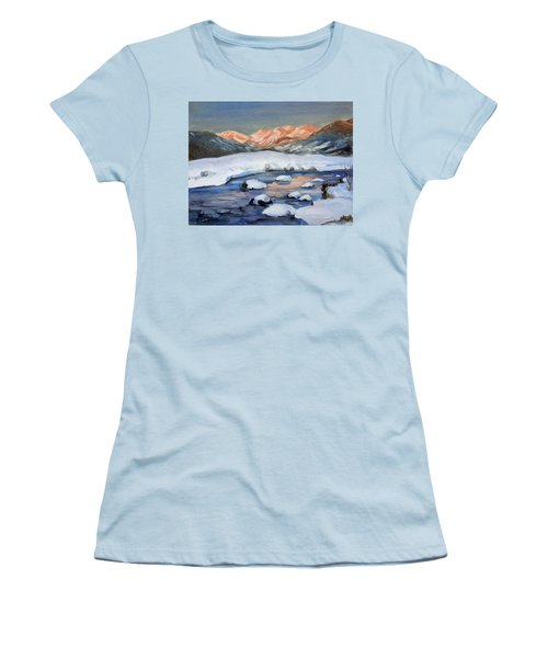 Mountain Winter Landscape 1 Women's T-Shirt (Junior Cut) by Irek Szelag