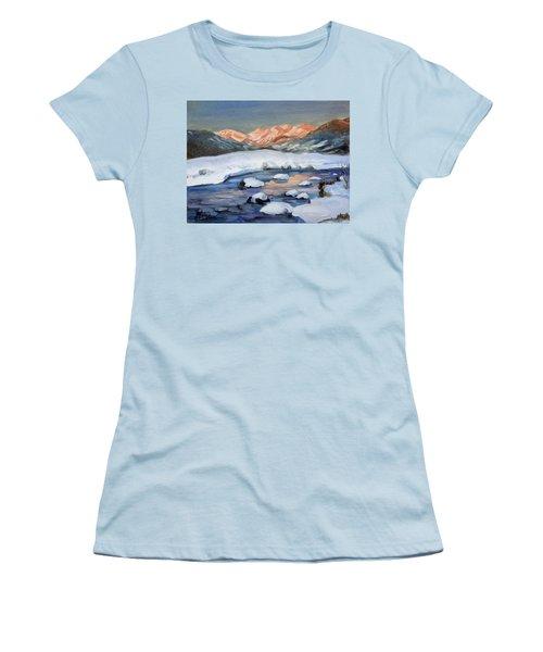 Mountain Winter Landscape 1 Women's T-Shirt (Athletic Fit)