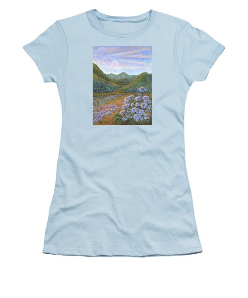Mountains And Asters Women's T-Shirt (Junior Cut) by Holly Carmichael