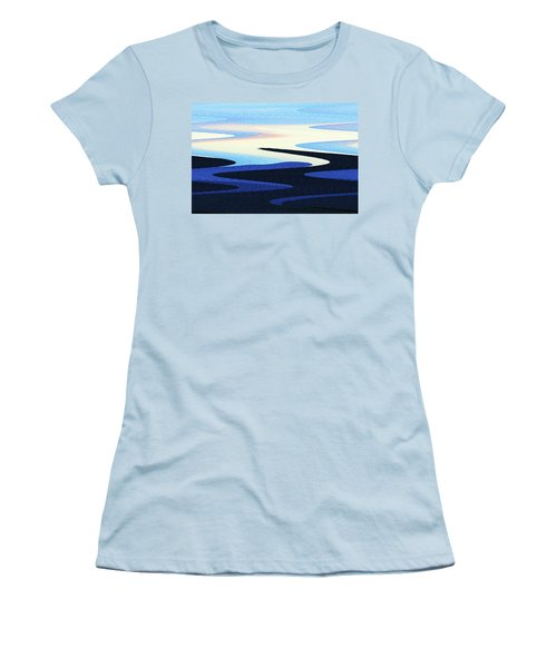 Mountains And Sky Abstract Women's T-Shirt (Junior Cut) by Tom Janca
