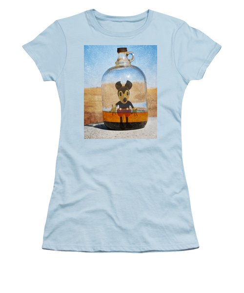 Mouse In A Bottle  Women's T-Shirt (Athletic Fit)