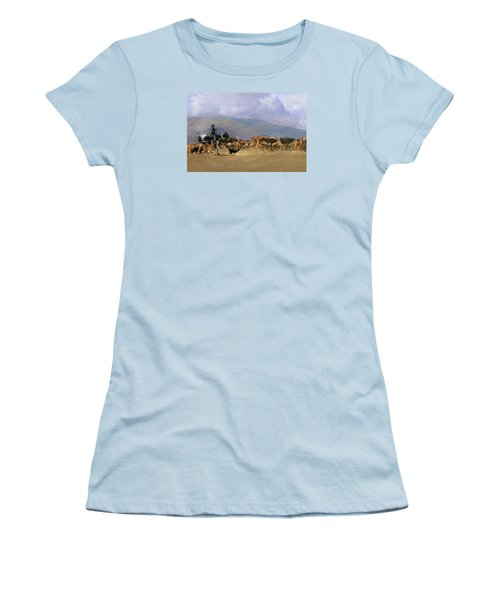 Move Em Out Women's T-Shirt (Junior Cut) by Ed Hall