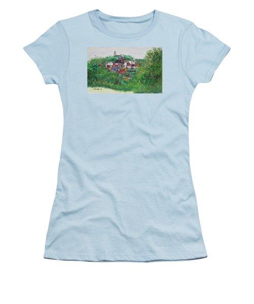 Mt. Adams  Cincinnati Ohio Women's T-Shirt (Athletic Fit)