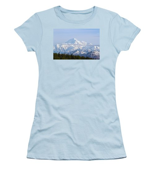 Denali Cloud Line Women's T-Shirt (Junior Cut) by Allan Levin