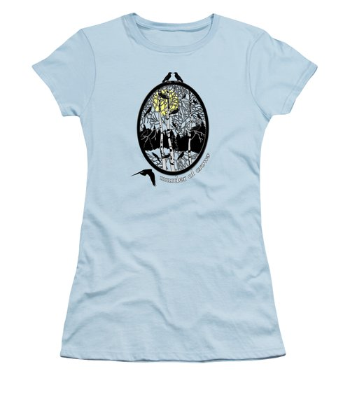 Murder Of Crows Women's T-Shirt (Junior Cut) by Methune Hively