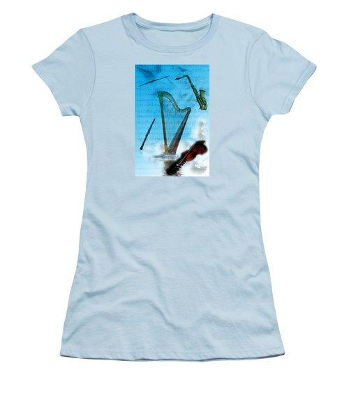 Musical Instruments Women's T-Shirt (Junior Cut) by Angel Jesus De la Fuente