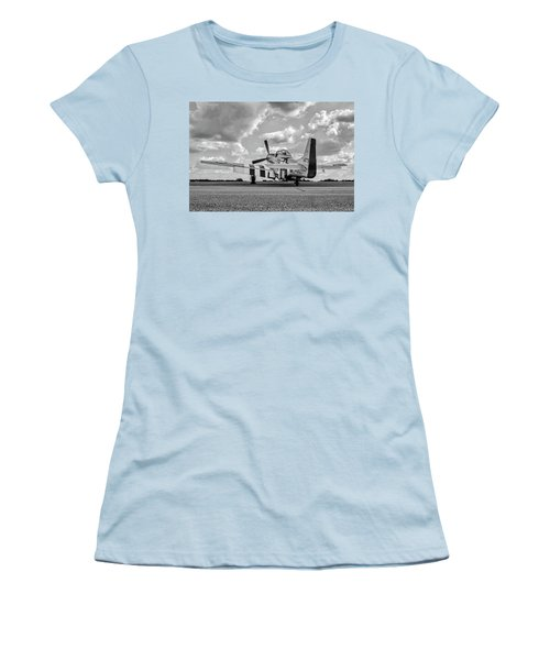 Mustang On The Ramp Women's T-Shirt (Athletic Fit)