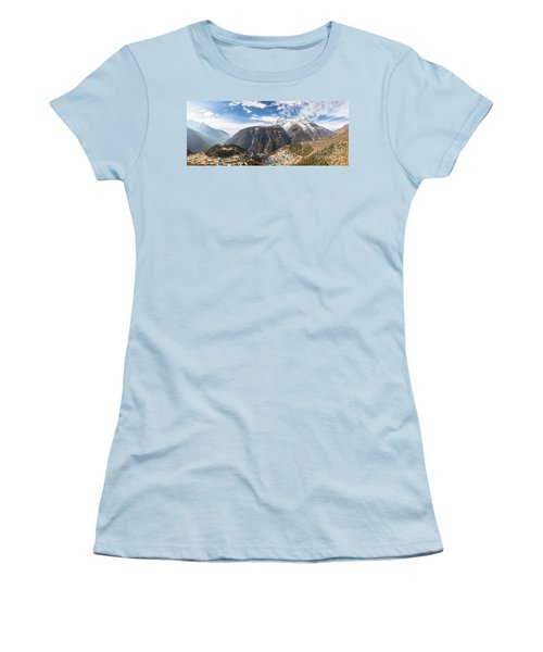 Namche Bazar Panorama Women's T-Shirt (Athletic Fit)
