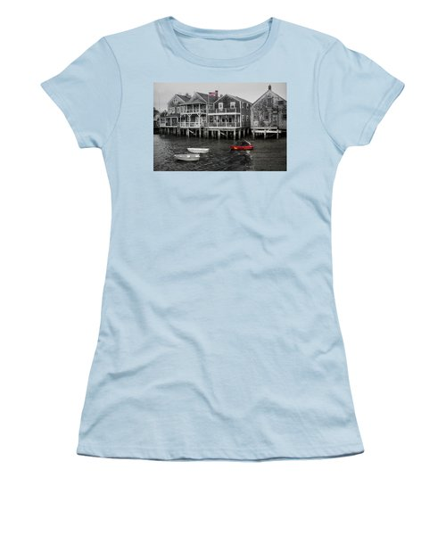 Nantucket In Bw Series 6139 Women's T-Shirt (Athletic Fit)