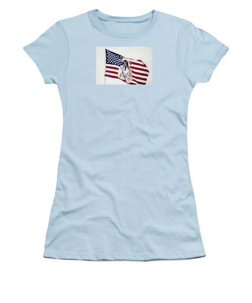 Native American Flag Women's T-Shirt (Junior Cut) by Emanuel Tanjala