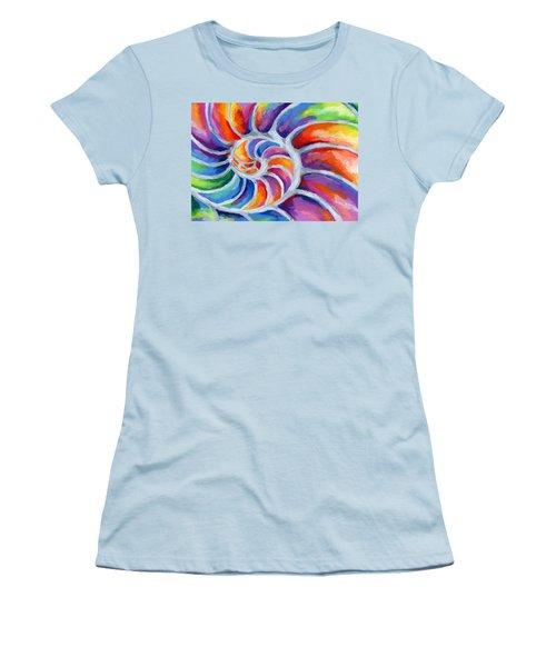 Nautilus Women's T-Shirt (Junior Cut) by Stephen Anderson