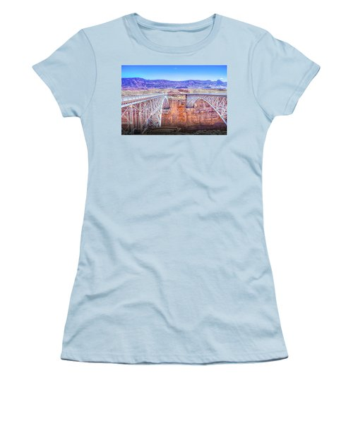 Navajo Bridge Women's T-Shirt (Junior Cut) by Mark Dunton