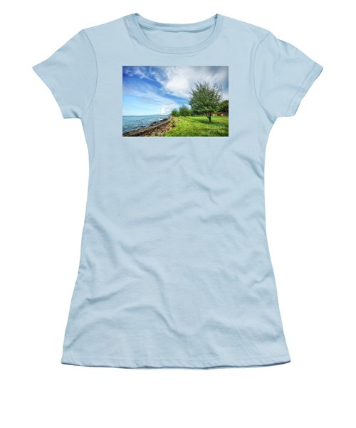 Women's T-Shirt (Junior Cut) featuring the photograph Near The Shore by Charuhas Images
