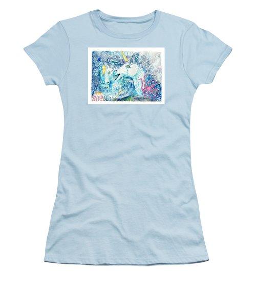 Neptune's Horses Women's T-Shirt (Junior Cut) by Melinda Dare Benfield