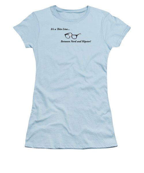 Nerd Or Hipster Women's T-Shirt (Athletic Fit)