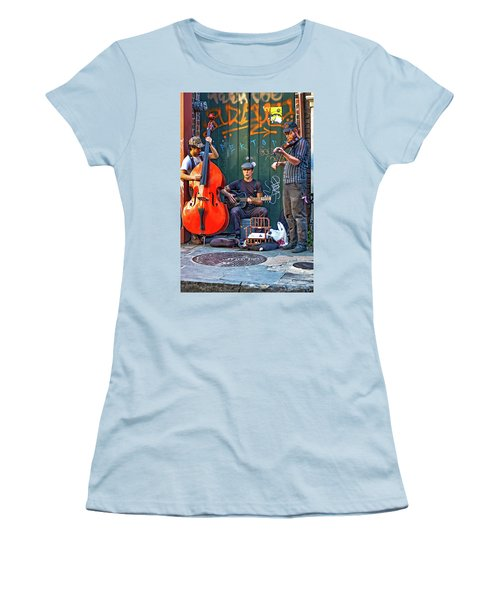 New Orleans Street Musicians Women's T-Shirt (Athletic Fit)