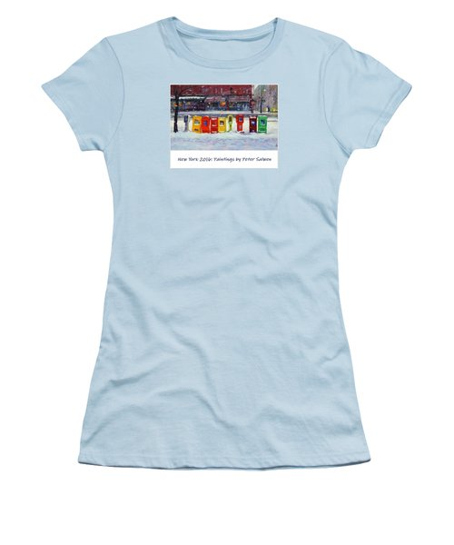 New York Streetscapes 2016 Women's T-Shirt (Athletic Fit)
