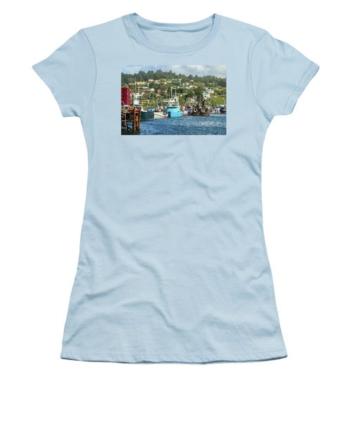 Women's T-Shirt (Junior Cut) featuring the digital art Newport Harbor by James Eddy