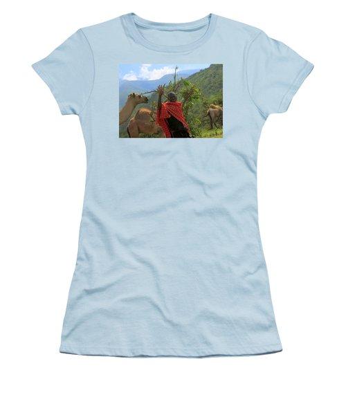 Ngorongoro Herder Women's T-Shirt (Athletic Fit)
