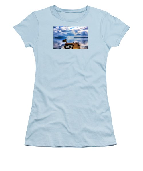 Women's T-Shirt (Junior Cut) featuring the photograph Nice Dock by Rick Bragan