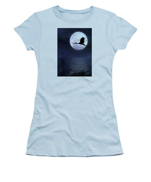 Women's T-Shirt (Junior Cut) featuring the photograph Night Flight by Christina Lihani
