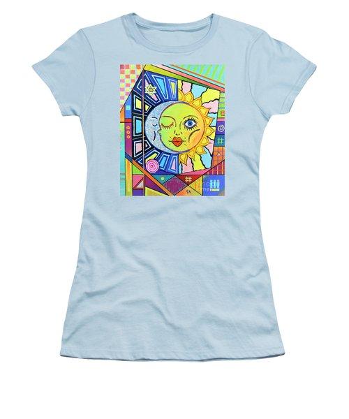 Night Kisses Daylight Women's T-Shirt (Junior Cut) by Jeremy Aiyadurai