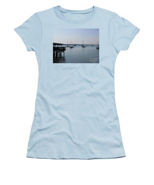 Women's T-Shirt (Junior Cut) featuring the photograph No Wind by Greg Patzer