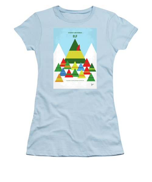 No699 My Elf Minimal Movie Poster Women's T-Shirt (Athletic Fit)