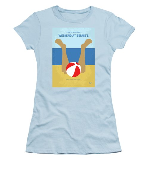 Women's T-Shirt (Junior Cut) featuring the digital art No765 My Weekend At Bernies Minimal Movie Poster by Chungkong Art