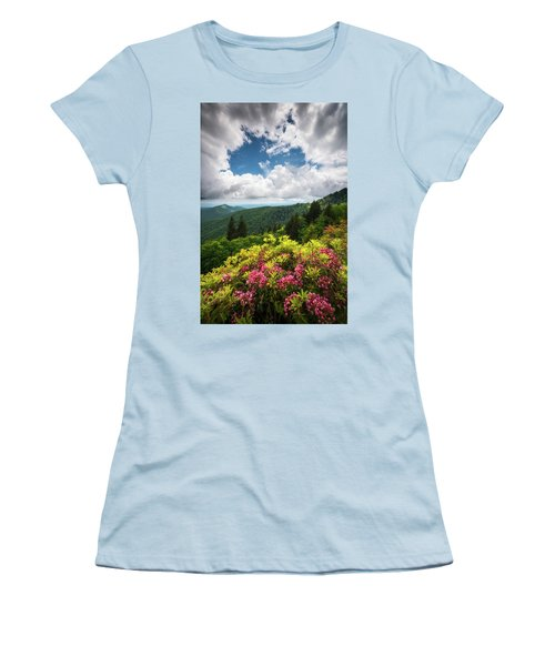 North Carolina Appalachian Mountains Spring Flowers Scenic Landscape Women's T-Shirt (Athletic Fit)