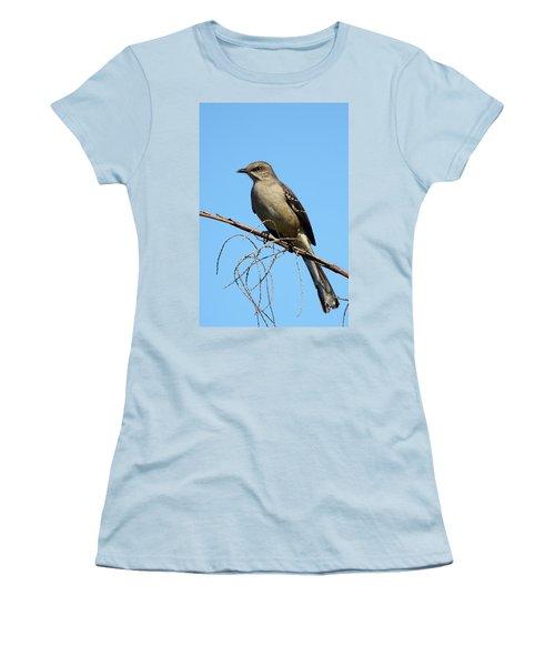Northern Mockingbird Women's T-Shirt (Junior Cut) by Bruce J Robinson