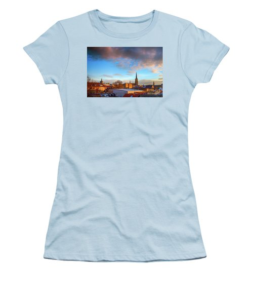 Novi Sad Roofs Lit By The Setting Sun Women's T-Shirt (Junior Cut) by Jivko Nakev