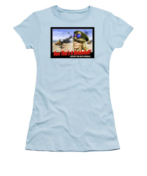 Now Thats A Bombshell Women's T-Shirt (Junior Cut) by Don Olea