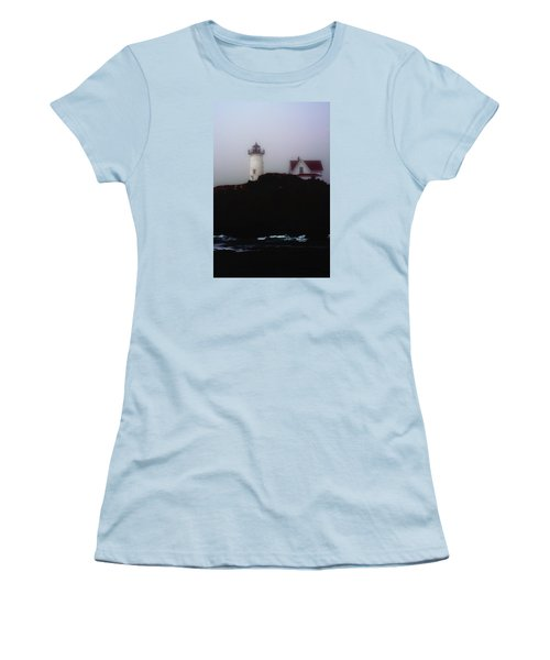 Nubble Light House Women's T-Shirt (Junior Cut) by Richard Ortolano