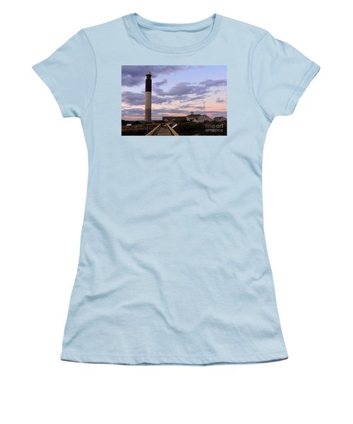 Oak Island Lighthouse Women's T-Shirt (Junior Cut) by Shelia Kempf