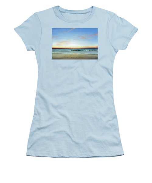 Women's T-Shirt (Junior Cut) featuring the painting Obx Sunrise by Albert Puskaric