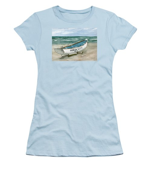 Ocean City Lifeguard Boat Women's T-Shirt (Athletic Fit)