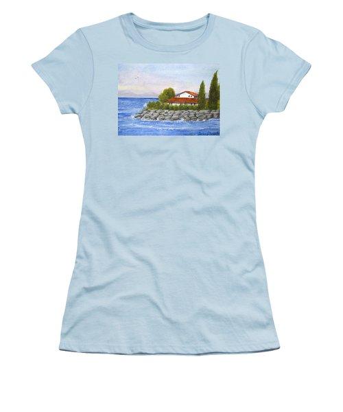 Ocean Scene  Women's T-Shirt (Athletic Fit)