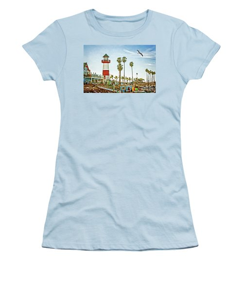 Oceanside Harbor Lighthouse Women's T-Shirt (Athletic Fit)