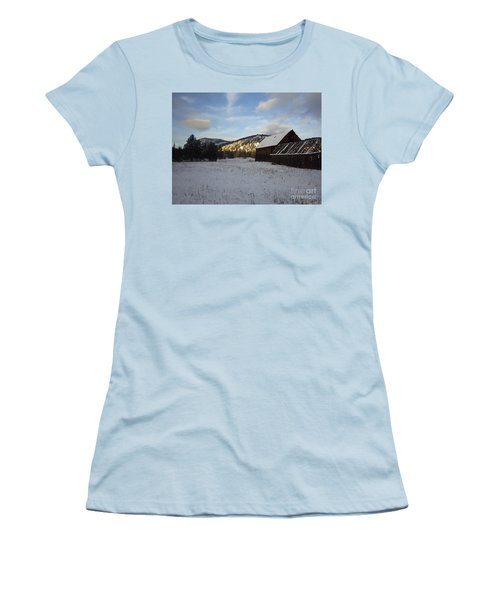 Women's T-Shirt (Junior Cut) featuring the photograph Old Barn 2 by Victor K