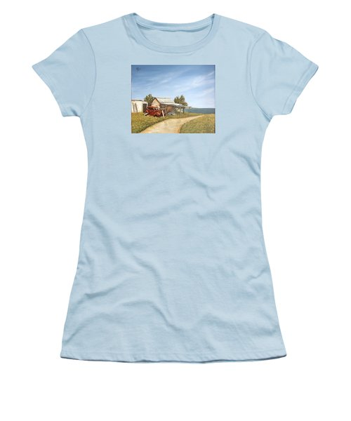 Old House By The Sea Women's T-Shirt (Junior Cut) by Natalia Tejera