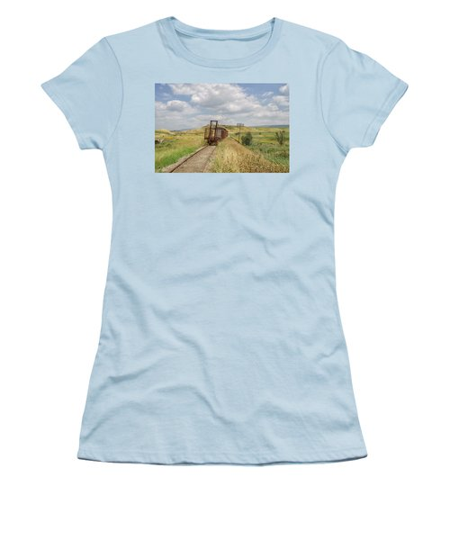Jezre'el Valley Old Railway Station Women's T-Shirt (Junior Cut) by Uri Baruch