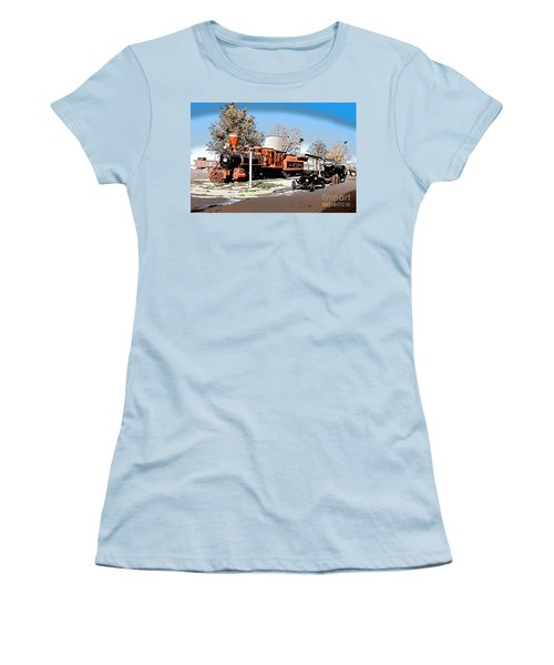Old Pioneer Train Western Village Las Vegas Women's T-Shirt (Junior Cut) by Wernher Krutein